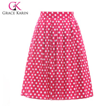 19 Colors ! Grace Karin Cheap Occident Short Polka Dots Cotton Vintage Retro 50s Skirt CL6294-15#