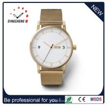 Relógio de aço inoxidável estilo clássico com mostrador grande