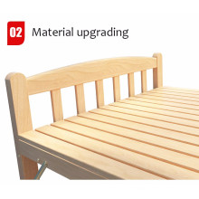 Import High Quality Wholesale Cheap Single Portable Metal Frame Wooden Cot Folding Bed