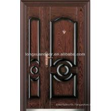 Factory Custom Double Leaf Steel Security Screen Door and Storm Doors, Turkey Style
