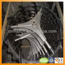 neumático compuesto de repicadora goma metal con base de acero fuerte
