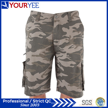 Relaxed Fit Cargo Style Camo Work Shorts (YGK120)