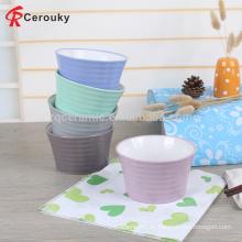 Europa Lebensmittel Standard Vollfarbig glasiert Keramik Obst Schüssel, niedlich Design Keramik Obst Schüssel