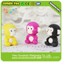 Papeterie rouge Monkey Eraser de mode