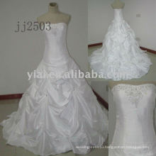 JJ2503 new arrival one shoulder beads embroidery wedding gowns 2011