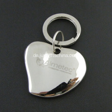 Promotional Metal Heart-shaped Keyrings