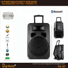3000W Powerful Portable Karaoke Trolley Subwoofer Tweeter DJ Active Speaker