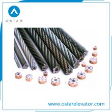 Corda de fio de aço do regulador / tração da alta qualidade para o elevador do passageiro (OS26)