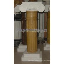 Греческая колонна с каменным мраморным гранитным песчаником (QCM131)