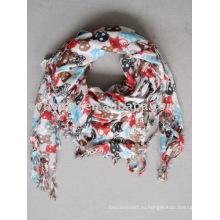 Вискозные квадратные печатные черепа шарф женщины