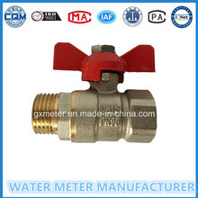 Brass Control Type Ball Valves for Water Meter, Dn15-40mm