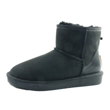 Classic Leather Snow Boots In Winter