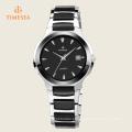 Relógios de pulso pretos de aço inoxidável da cor para homens 72330