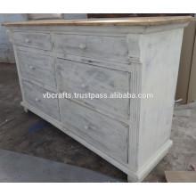 white wash antique wooden cabinet