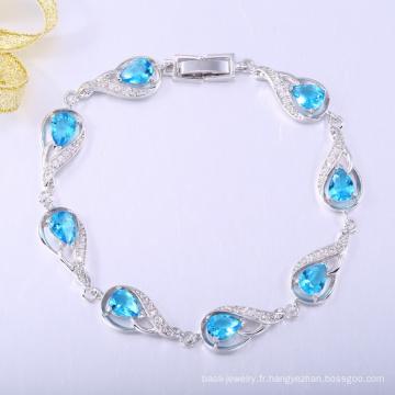 Nouveau cadeau de noël bracelets en plaqué or blanc antistatique de sécurité