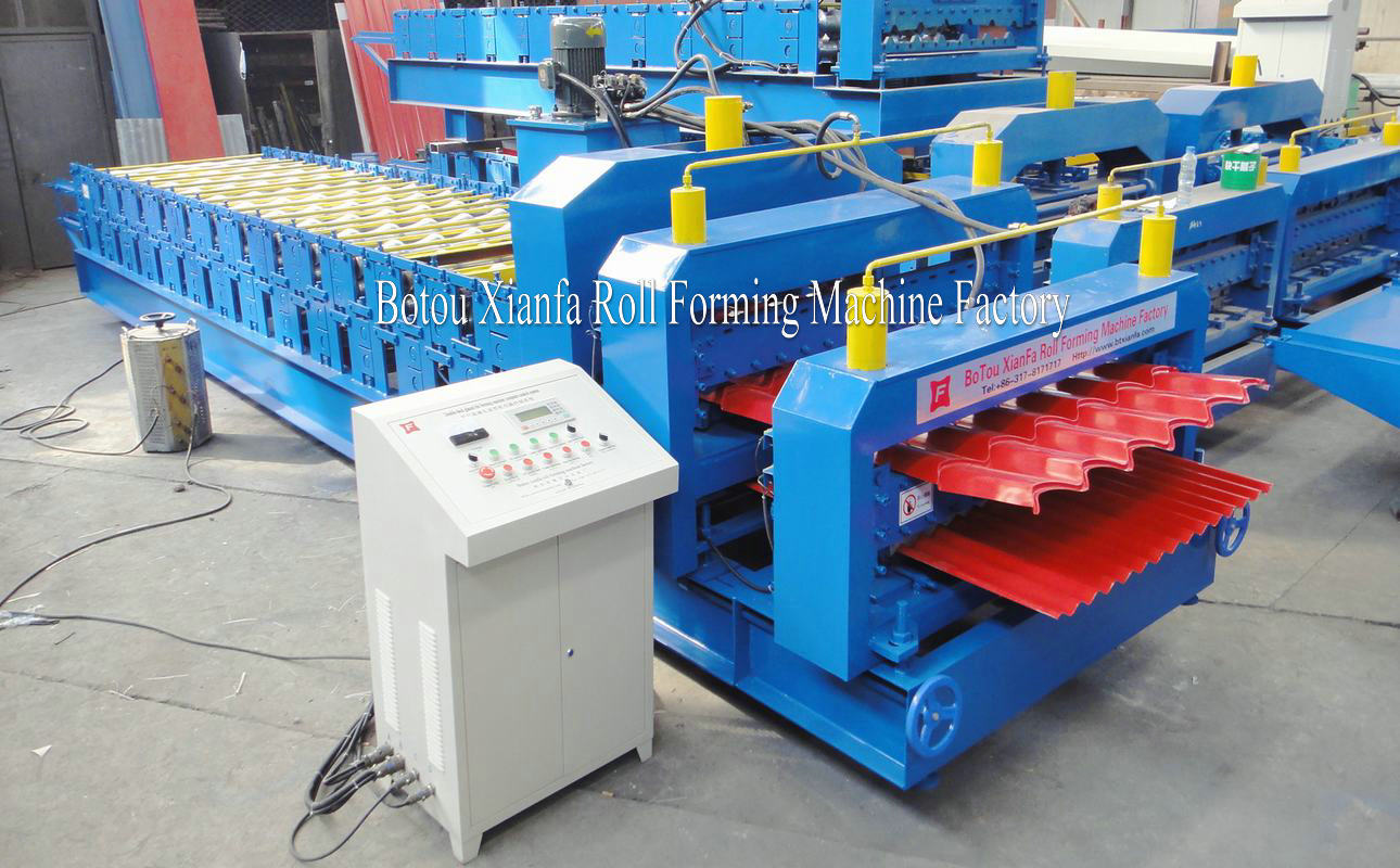 glazed and corrugated panel forming machine