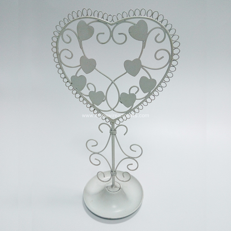 Heart Metal Jewelry Rack Commodity Shelf Home Decor