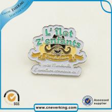 Pin de revers de badge nominatif de défilement magnétique