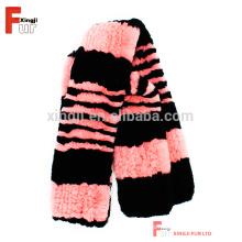Bufanda de Navidad de regalo bufanda Rex de piel de conejo