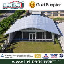 Bâtiments de tente Arcum de 15 mx 20 m avec portes en verre et murs de verre pour événements