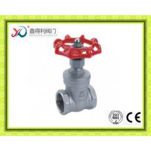 Válvula de compuerta ANSI 304/316 de acero inoxidable con rosca Bsp