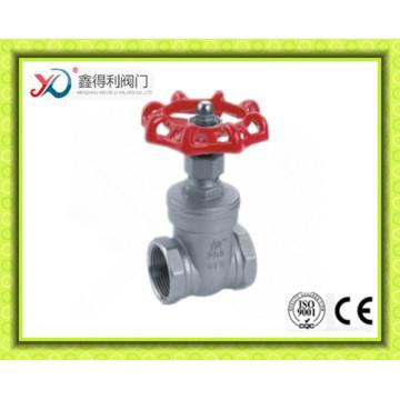 China Facrory ANSI acero inoxidable CF3 hembra roscado válvula de compuerta