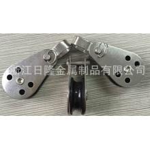 Poleas de acero inoxidable con una sola rueda de nylon
