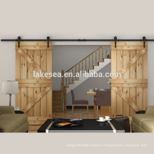 Wooden Double Barn Door Track System Sliding Hardware Fitting