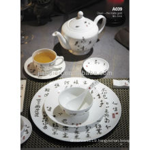 A043 Eco friendly porcelain exclusive custom printed dinnerware