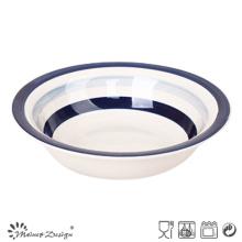 Assiette à soupe en céramique Blue Circle