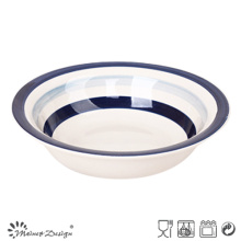 Blue Circle Ceramic Soup Plate