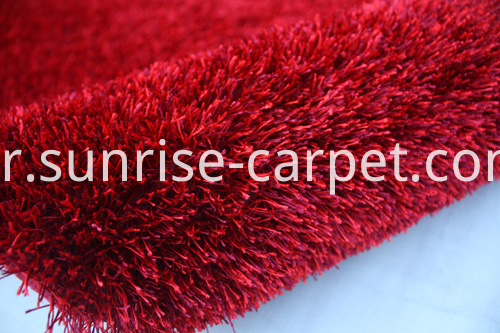 Polyester Shaggy Thick Yarn Plain Rug