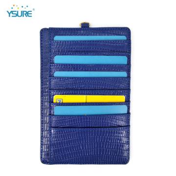 Porte-cartes de crédit en cuir avec pince à billets mince OEM