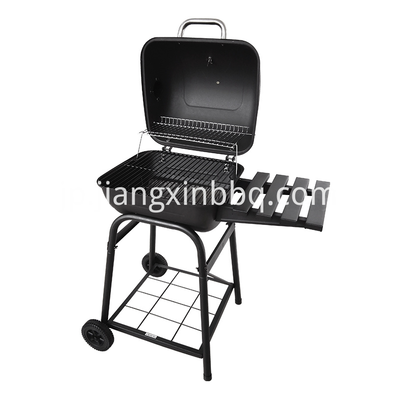 Mini Barrel Charcoal Grill open