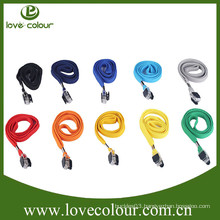 Factory Wholesale High Quality Polyester Solid Color Tubular Fabric Lanyard
