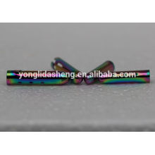 Multicolored shoe decoration metal stamping lace tip