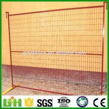 Clôture temporaire galvanisée revêtue de PVC en Chine Factory