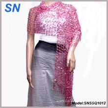 Écharpe Shimmer pour femme, enveloppement pour la soirée, foulard pour lentille