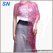 Women′s Shimmer Scarf, Evening Wrap, Sequin Scarve