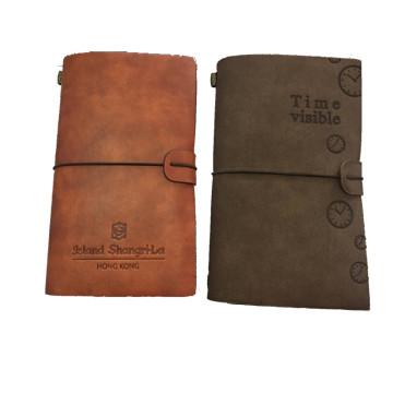 Delicada de calidad superior de imitación cuero artesanía perfecta Regalo Diario, cuaderno, libro de visitas, cepillo, agenda con correa