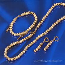 Xuping Gold Plated Fashion Jewelry Ball Chains Set (61165)