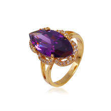 Xuping anillo de cobre de imitación de circonio de venta caliente