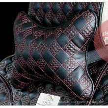 Car Headrest Neck Pillow Bone Shape Chinese Knot Pattern-Red Black