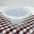 Transparent silicone lid glass food container