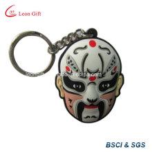 Personalizado máscara macia do PVC Keychain atacado