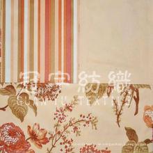 Micro Wildleder für Sofa Stoff mit Blumenmuster gedruckt