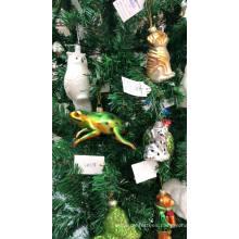 Figuras de animales de cristal pato adornos navideños