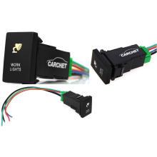 Conmutador de botón pulsador estilo dual LED de luz y interruptor de botón