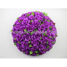 2014 alta emulação linda artificial bola pendurada flor para decoração de casamento