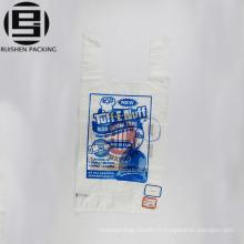 T-shirt imprimé en plastique sacs à provisions